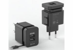 Зарядное устройство Nomi HC05213 2 USB Port (2.1A) Black