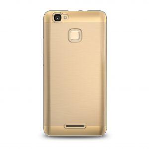 Силиконовый чехол-бампер для телефона Nomi (Номи) i5532 SPACE X2 Золотой
