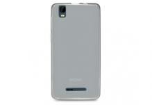 Силиконовый чехол-бампер для телефона Nomi (Номи) i5011 EVO M1 Черно-прозрачный
