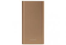 Универсальная мобильная батарея Nomi (Номи) E100 10000 mAh Золотой