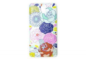 Силиконовый чехол-бампер для телефона Nomi (Номи) i4510 BEAT M Розы