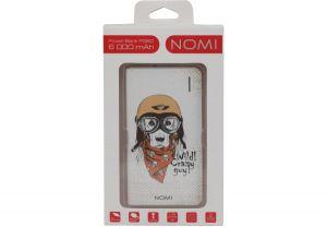 Универсальная мобильная батарея Nomi (Номи) P060 6000 mAh Собака в шлеме
