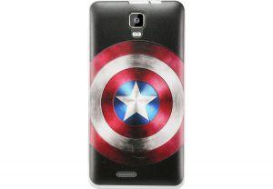 Силиконовый чехол-бампер для телефона Nomi (Номи) i4510 BEAT M Капитан Америка