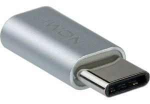Переходник с Micro USB на Type-C Серебристый
