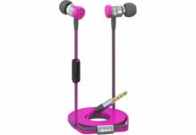 Наушники Nomi (Номи) NHS-103 Металлические Розовые