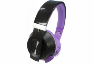 Наушники Nomi (Номи) NHS-201 Черно-Фиолетовые