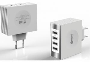 Зарядное устройство Nomi HC05424 4 USB Port (4.2A) White