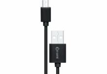 Кабель Nomi DC USB-micro 0,9м Черный