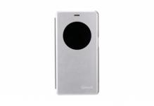 Чехол-книжка для телефона Nomi (Номи) i506 Shine Бело-Серебристый