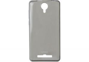 Силиконовый чехол-бампер для телефона Nomi (Номи) i5010 EVO M Черно-прозрачный