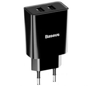 СЗУ Baseus Speed Mini Dual U Charger 10.5W 2USB Black