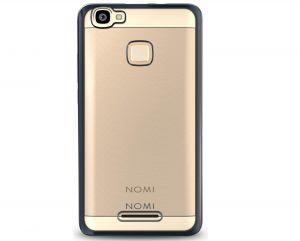 Силиконовый чехол-бампер для телефона Nomi (Номи) i5032 EVO X2 Прозрачный с черным кантом