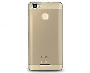 Силиконовый чехол-бампер для телефона Nomi (Номи) i5032 EVO X2 Черно-прозрачный