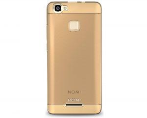 Силиконовый чехол-бампер для телефона Nomi (Номи) i5032 EVO X2 Прозрачный с золотым кантом