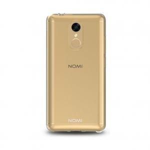 Силиконовый чехол-бампер для телефона Nomi (Номи) i5050 EVO Z Золотой