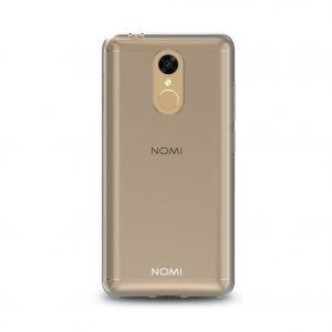 Силиконовый чехол-бампер для телефона Nomi (Номи) i5050 EVO Z Черно-прозрачный