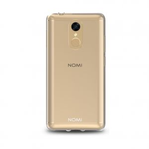 Силиконовый чехол-бампер для телефона Nomi (Номи) i5050 EVO Z Прозрачный