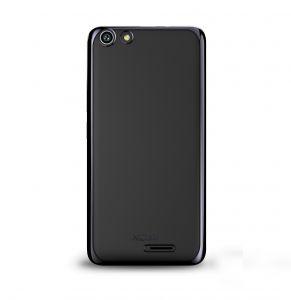 Силиконовый чехол-бампер для телефона Nomi (Номи) i5510 SPACE M Прозрачный с черным кантом