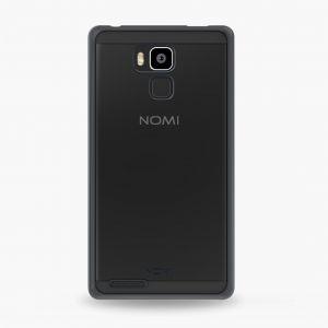 Силиконовый чехол-бампер для телефона Nomi (Номи) i6030 NOTE X Прозрачный с черным кантом