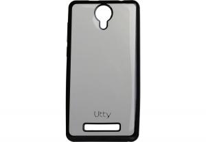 Силиконовый чехол-бампер для телефона Nomi (Номи) i5010 EVO M Прозрачный с черным кантом
