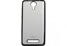 Силиконовый чехол-бампер для телефона Nomi (Номи) i5010 EVO M Прозрачный с серым кантом