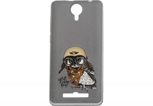 Силиконовый чехол-бампер для телефона Nomi (Номи) i5010 EVO M Сова
