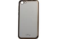 Силиконовый чехол-бампер для телефона Nomi (Номи) i5030 EVO X Прозрачный с черным кантом