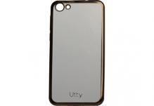 Силиконовый чехол-бампер для телефона Nomi (Номи) i5030 EVO X Прозрачный с золотым кантом