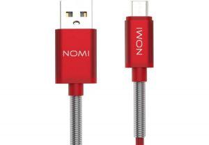 Кабель Nomi DCMQ USB micro 1м Red