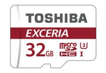 Карта памяти Toshiba EXCERIA microSDHC UHS-I U3 32GB class 10+SD