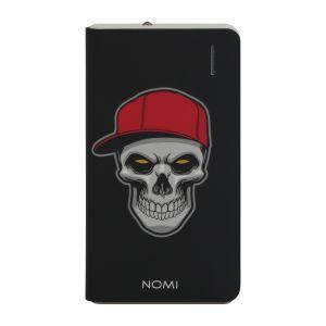 Универсальная мобильная батарея Power Bank Nomi (Номи)P080 8000 mAh Череп в кепке